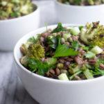 Purple Barley Romanesco Salad Close Up