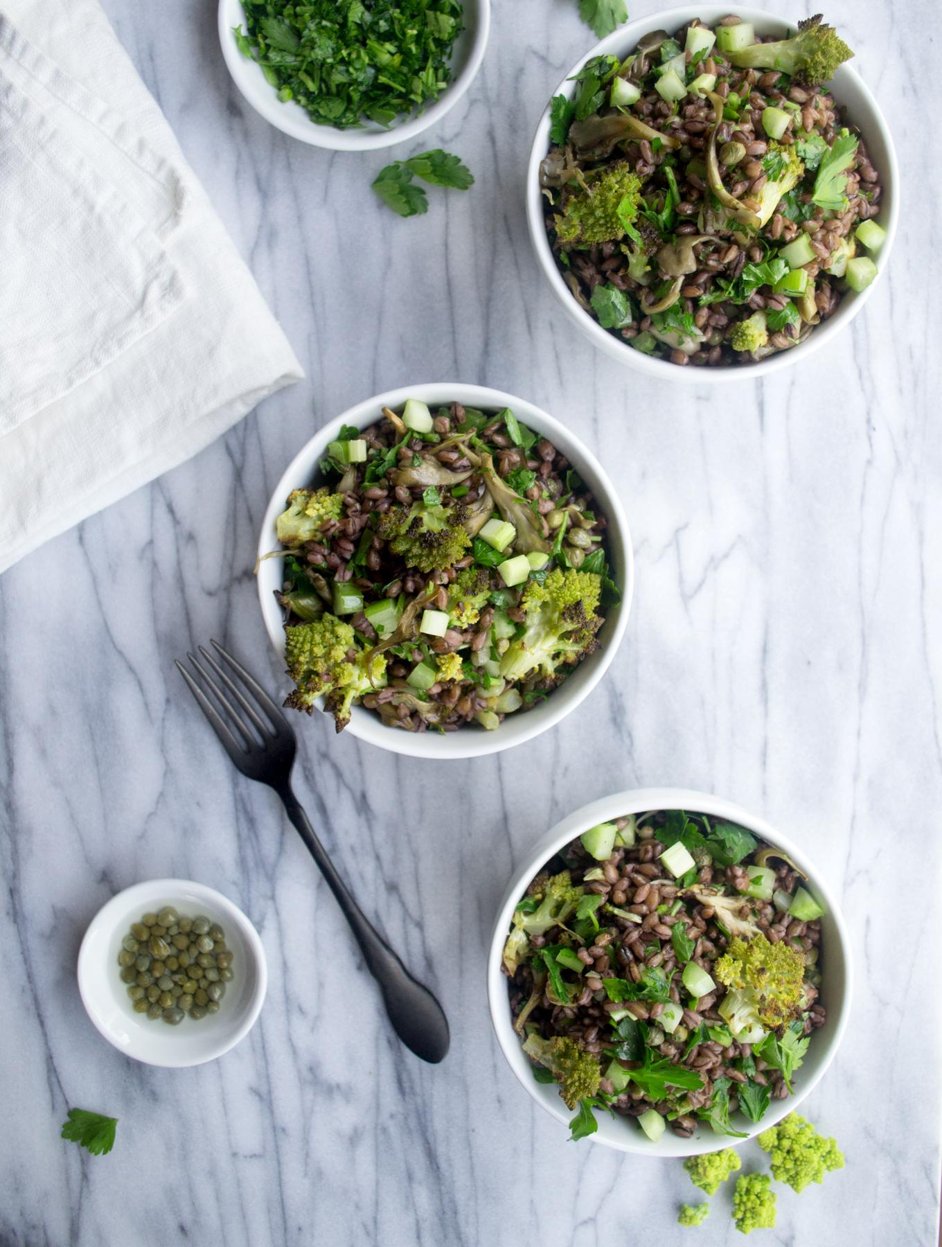 Purple Barley Romanesco Salad