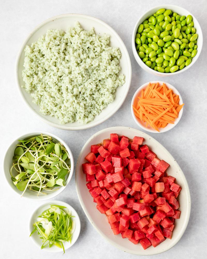 Vegan Poke Bowl Ingredients