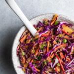 Vegan Rainbow Coleslaw