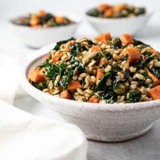 Farro Sweet Potato Salad